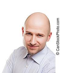portrait, homme chauve