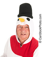 Portrait human snowman