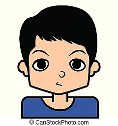 portrait icon, face. on white background, vector