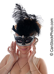 Portrait in a mask