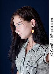 Portrait in a profile
