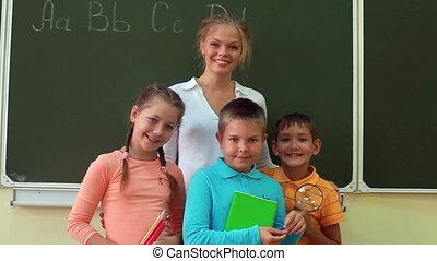 Portrait in classroom