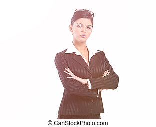 Portrait in full growth. confident business woman.