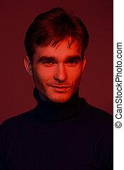 portrait in red light