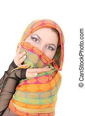 portrait in scarf
