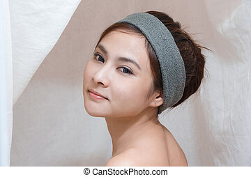 Portrait in Thai spa