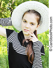 portrait is young girl