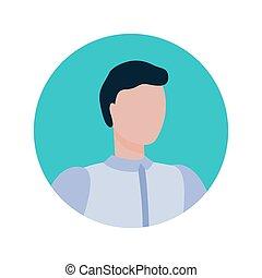 portrait, isolé, courtier, cadre, figure, caractère