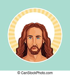 portrait jesus christ stamp