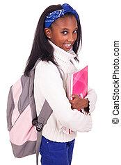 portrait, jeune, étudiant, africaine