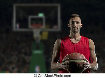 portrait, joueur basket-ball