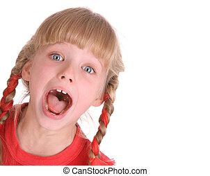 portrait, kid., heureux