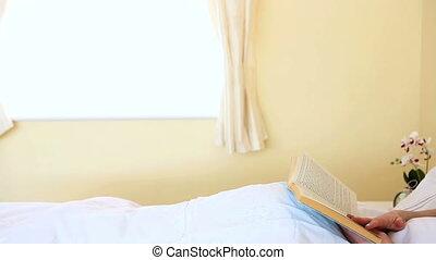 portrait, lecture femme