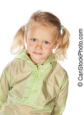 Portrait little blond girl