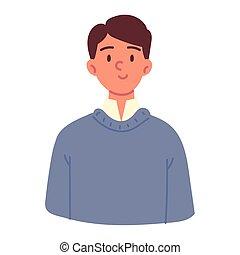 portrait man cartoon