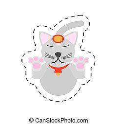 portrait maneki neko - cat japanese