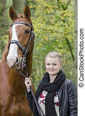 Portrait: Meike und Piccadilly - Portrait von Meike und...