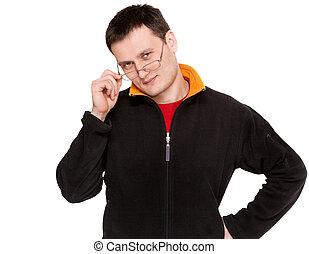 Portrait men in spectacles