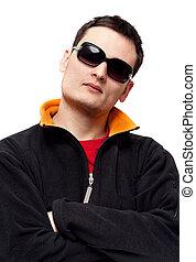Portrait men in sunglasses