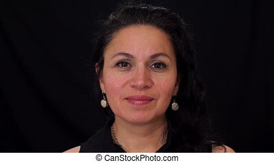 Portrait Middle Aged Female Latina - Portrait shot of a...
