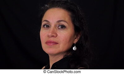 Portrait Middle Aged Female Latina