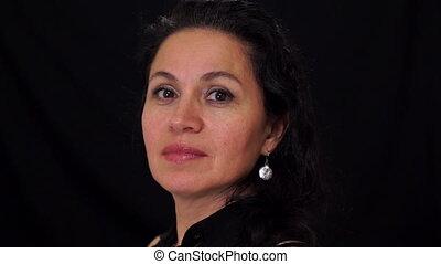 Portrait Middle Aged Female Latina - Portrait shot of a...