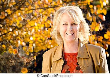 Portrait middle-aged woman