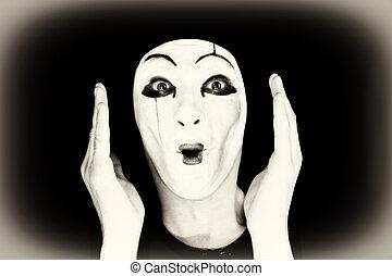 portrait, mime