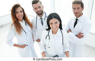 portrait, monde médical, ouvriers, groupe, hôpital