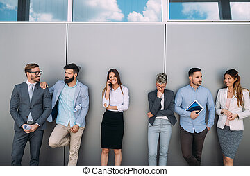 portrait, multi-culturel, bureau affaires, équipe