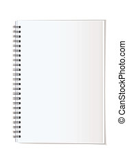 Portrait note pad - Simple paper office supplies note pad...