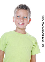 portrait of 7 years old boy