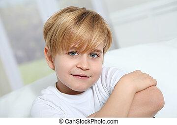 Portrait of 8-year-old boy