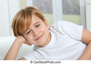 Portrait of 8-year-old boy