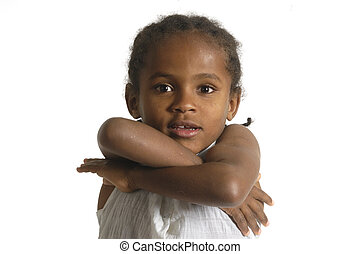 Portrait of a african young girl