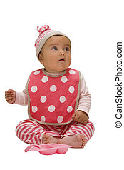 baby in red wear - Portrait of a baby in red wear