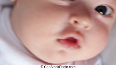 portrait of a baby lying