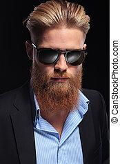 portrait of a bearded business man
