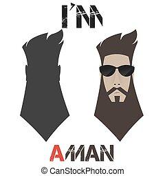 Portrait of a bearded man,