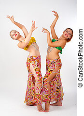 Portrait of a beautiful belly dancers