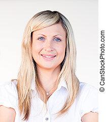 Portrait of a beautiful blonde businesswoman