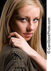 Portrait of a beautiful blonde