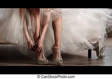 Portrait of a beautiful bridemorning bride