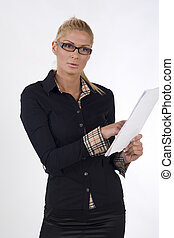 businesswoman with the document