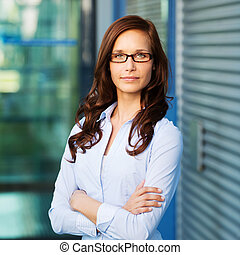 Portrait of a beautiful confident female executive