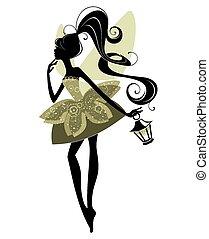 Portrait of a beautiful fairy - Portrait of a beautiful girl...