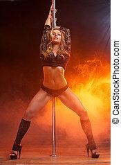 Portrait of a beautiful female dancer - Full body portrait...