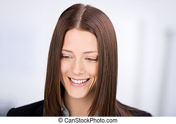 Portrait of a beautiful female smiling