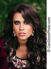 Portrait of a beautiful girl gypsy