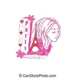 portrait of a beautiful girl in Par